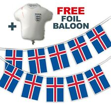 Football World Cup 2018 Set - Iceland Flags - bunting + free foil balloon