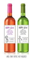 Funny, alternative, sarcastic, WINE LABEL. 60th birthday. Present/Gift. Him/Her