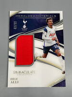 Dele Alli 2020 Panini Immaculate ⚽️ /99 Heralded Materials Jersey Relic Spurs