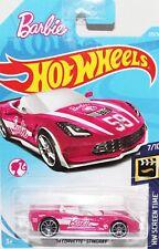 Hotwheels Barbie 74 Corvette Stingray Long USA card nice