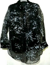 Black Floral Barong Style Longsleeve With Embellishment