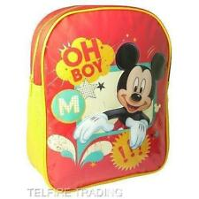 DISNEY MICKEY MOUSE JUNIOR BACKPACK CHILDS KIDS RUCKSACK SCHOOL NURSERY OH BOY