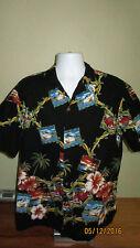 XL Vintage Kolekole Short Sleeve Button Front Casual Hawaiian Camp Shirt Truck