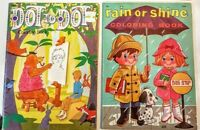 Samuel Lowe Rain or Shine Coloring Book 1957 Playmore Dot to Dot 1970's VTG LOT