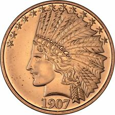 Lot of 20 - 1 oz Copper Round - 1907 Indian