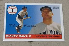 2 for 1 2006 Topps MLB MICKEY MANTLE #MHR1 Home Run History #1 Cards NY Yankees