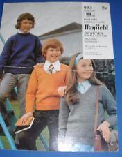 Hayfield Kids Sweaters Knitting Pattern 993