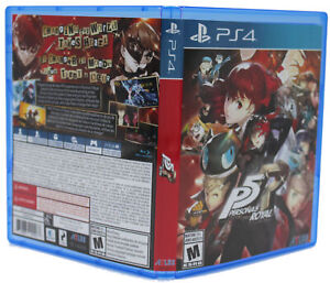 Persona 5 Royal PS4 PlayStation 4 Replacement Game Case & Cover Art NO GAME DISC