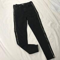 Levi's Mile High Super Skinny Ankle Zipper Women's Jean Size 26 Black