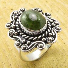 Anillo Ajustable Tibetano Budista Piedra Verde Ring Buddhist Green Stone