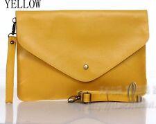 Oversized Envelope Clutch Purse messenger Shoulder HandBag Multiple Colour ha142