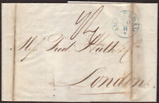 1841 ENTIRE FROM AMSTERDAM TO LONDON WITH FORWARD AND RECEIVING CANCELLATIONS