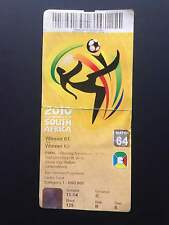 ENTRADA TICKET FINAL WORLD CUP SOUTH AFRICA 2010 WC SPAIN NETHERLANDS MATCH 64