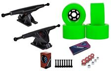 "Cal 7 Longboard 10.75"" Axle Truck Bearing 90mm Green Skateboard Wheels"