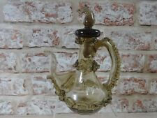 Vintage / Antique? Smoked coloured glass horse head jug hand blown Italian?
