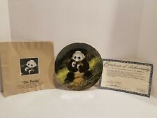 """Vtg Htf Neat 1988 Will Nelson""""The Panda""""Endangered Species Collectable Plate"""