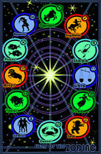 Signs of the Zodiac Horoscope Chart Blacklight Art Print Po... Blacklight Poster