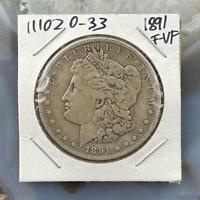 1891 US Morgan Silver Dollar $1 90% US Collectible Coin F-VF #111020-33