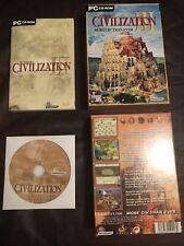 Sid Meier's Civilization III 3 PC CD-ROM Big Box Edition Rare 2002 Complete