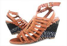 New  Guess SCHYLER Woven Strappy Wedge Sandal Heel Shoe  women's sz 8