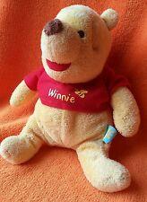 "Disney Baby Winnie Pooh Comforter Baby Soft Toy Doudou Bee Top Flower Label 7"""