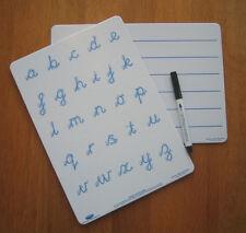 Whiteboards Duo Set (1x Cursive Handwriting & 1x Lined) Dyslexia Dyspraxia SEN