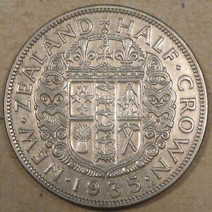 New Zealand 1935 Half Crown XF