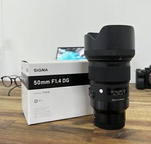 Sigma 50mm f1.4 DG Art Lens for Sony E-Mount with HOYA UV Filter