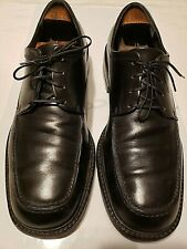 Men's Salvatore Ferragamo Black Leather Lace Up Square Toe Dress Shoes 11D 44