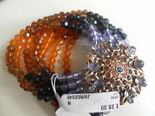 Liz Claiborne USA con perline braccialetto Stretch con spilla di corrispondenza associata * BNWT *