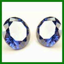 2 x 6mm Round Tanzanite Blue My Russian Diamond Simulant Lab Created Loose Stone