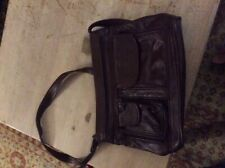 Leather shoulder bag purse genuine leather product of Mexico vintage brown