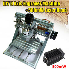 500mW 3 Axis 1610 CNC Laser PCB Engraver Wood Milling Carving Engraving Machine