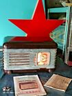 VINTAGE MOSKVICH TUBE RADIO 50's BAKELITE ART DECO SOVIET ERA RUSSIA USSR CCCP