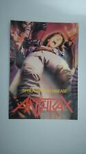Anthrax spreading the disease vintage music postcard POST CARD