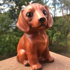 Dachshund Dog Statue Dachshund Sitting Figurine Brown Eye Dog Statue Display