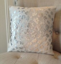 "12x12"" cushion cover in Laura Ashley Coco dove grey & Silk Reverse fabric"