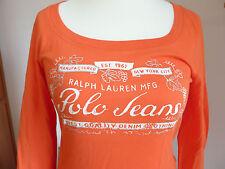 Polo Ralph Lauren Langarm Shirt, orange, Baumwolle, Gr. L, sehr guter Zustand