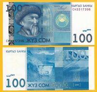 Kyrgyzstan 100 Som p-26a 2009 UNC Banknote