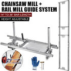 """14""""-36"""" Chainsaw Mill and Milling Rail System Aluminum Rail Mill Guide System photo"""