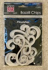 Bazzill Chips - Chipboard: Flourishes, 12 pieces, 3 shapes, # 302712, New