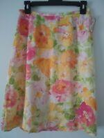 New! Talbots Petites Women's Floral Design Knee Length Skirt  Size 4P