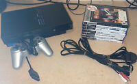 PS2 Sony PlayStation 2 Console Bundle - SCPH 30003 - Controllers 7 Games