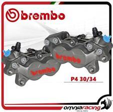 Brembo Coppia Pinze P4.30 / 34 Colore Titanio intersasse 40mm Con Pastiglie
