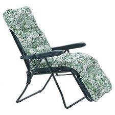 NEW  Recline Cushioned Chaise Lounge Garden Recliner Chair Sun Lounger Bath