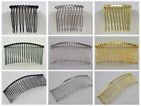 Black,Silver, Gold Tone Metal 10-Teeth, 20-Teeth, 30-Teeth Hair Side Combs Clips