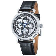 Thomas Earnshaw Mens Grand Calendar Black Leather Strap Watch RRP £365