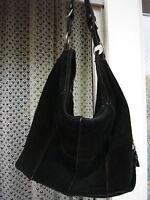 Leder Tasche  Beuteltasche MADI  Schwarz Made in Italy