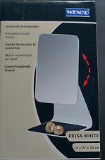 WENKO FRISA WHITE Kosmetik- Standspiegel mit Ablage Neigungswinkel Spiegel Kosme