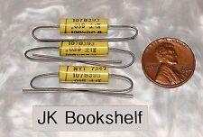 3 Nytronics 107B .039uf 100Vdc Polyester Film Capacitors 1% Nos Guitar Tone 1972